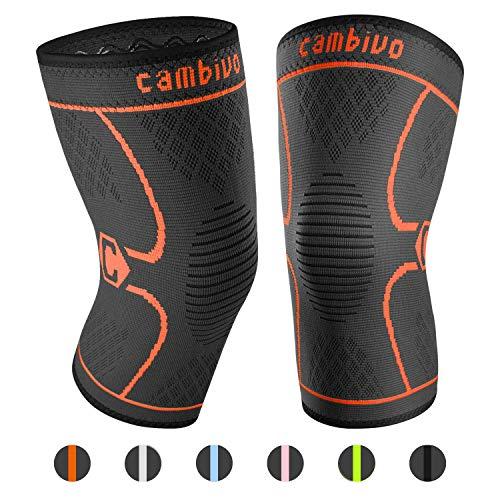 CAMBIVO 2 x Kniebandage, Knieschoner, Kniestützer für Laufen, Wandern, Joggen, Sport, Volleyball, Crossfit, Damen und Herren