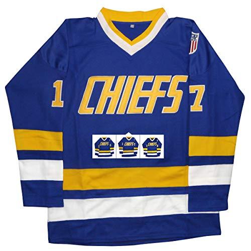 vinking Herren Hanson brüder Jersey, charlestownâ chiefsâ 16,17,18â Slap Shot Eishockey Film Jersey Large 17 Blau
