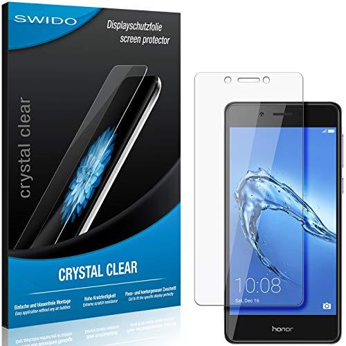SWIDO Schutzfolie für Huawei Honor 6C [2 Stück] Kristall-Klar, Hoher Festigkeitgrad, Schutz vor Öl, Staub & Kratzer/Glasfolie, Bildschirmschutz, Bildschirmschutzfolie, Panzerglas-Folie
