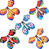 15 Pieces Magic Fairy Flying Butterfly Rubber Band Powered Wind up Butterfly Toy for Surprise Gift or Party Playing Christmas and New Year (Classic Style)