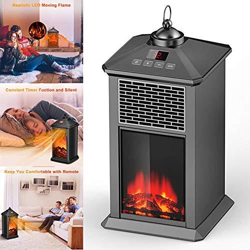Heating Chimenea Eléctrica Calefactor Tipo Estufa de Pie con Efecto de Leña...
