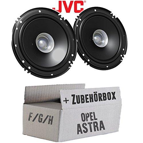 Opel Astra F,G,H - Lautsprecher Boxen JVC CS-J610X - 16cm Auto Einbauzubehör 300Watt Koaxe KFZ PKW Paar - Einbauset