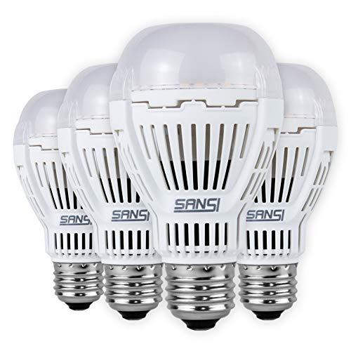 [Upgrade] SANSI 2000 Lumens 16W LED Light Bulbs 3000K Warm White Daylight 150W Equivlent, A19 Non-dimmable LED Light Bulbs, E26 Base, 4 Pack