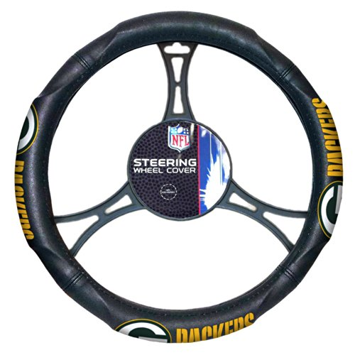 NFL Green Bay Packers Steering Wheel Cover, 14.5
