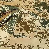 TOLKO Camouflage Stoff aus Baumwolle | Robust, Farbecht und