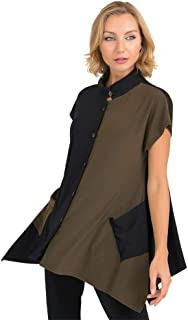 Short Sleeve Color Block Tunic- Style 193080