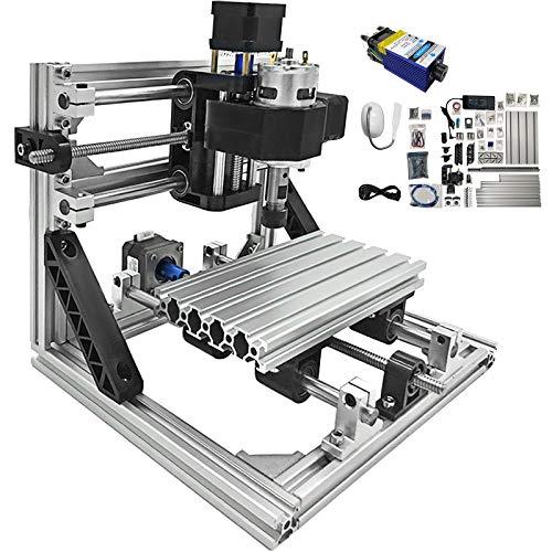 VEVOR 1610 CNC Graviermaschine Fräse 3 Achse, CNC Router Machine 500MW, Milling Machine CNC 160X100X40mm Engraving Machine Kit