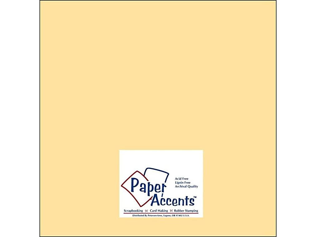 Accent Design Paper Accents Cdstk Muslin 12x12 74# Butter Cream
