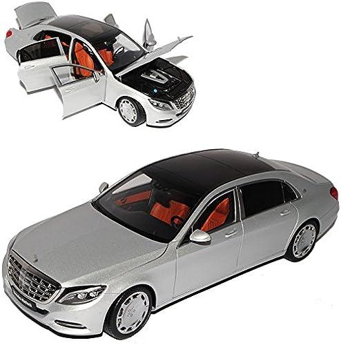 AUTOart Mercedes-Benz S-Klasse W222 Maybach S600 Silber Ab 2015 76292 1 18 Modell Auto mit individiuellem Wunschkennzeichen