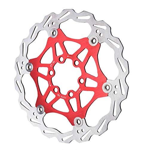 tJexePYK Bicicleta del Freno de Disco del Rotor 160mm 180mm Rotor Flotante de Bicicletas Centro de Bloqueo para Bicicletas de montaña