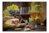 ワインとチーズテーブル写真 A-93534 93534 (プレミアム500ピースジグソーパズル 大人用 13x19インチ 米国製 )