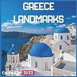 Greece Landmarks Calendar 2022: Greece Calendar 2022: 18 Months Greece Travel With Beautiful Scenes of Greece Calendar 2022 and Scenic Nature Wilderness of Greece Monthly Planner