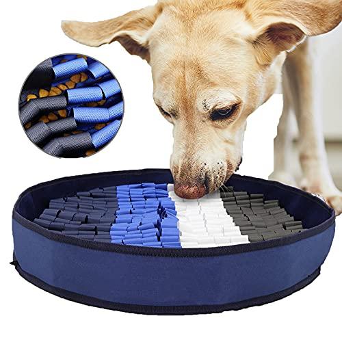Doifck Alfombra Olfativa Perros Snuffle Mat para Perros Alfombra Interactiva Perros Alimentación De Mascotas con 3 Ventosas