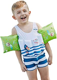 Kingswell 幼児 水着 可愛い フロートスーツ 援助ジャケット 子供 ベストスーツ スイムトレーニング 取り外す可能