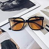 Gafas de sol de hombre de moda cuadrado marco grande calle negro enmarcado naranja rodajas