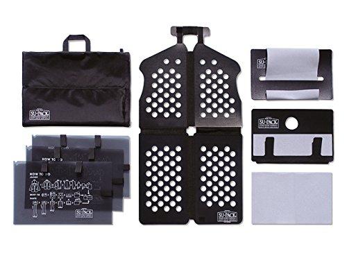 [SU-PACK HARD PLUS L] スーツ/シャツ/ネクタイを4分の1収納するガーメントバッグ (スーパック ハードプラス L) All in One 7点セット(Lサイズ) 機内持ち込み可