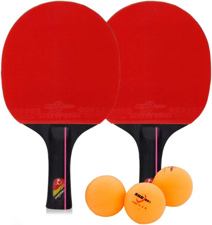 Golday Juego de palas de ping pong y tenis de mesa unisex, para adultos