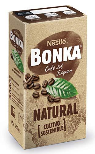 BONKA Café molido de tueste natural y cultivo sostenible - Paquete de Café molido de 4 x 250 g - Total: 1 kg