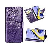 KISME für Xiaomi Poco F2 Pro Lederhülle,Magnetische PU Leder Flip Wallet Tasche mit Ständer Kartensteckplätze Protective Hülle Handyhülle für Xiaomi Poco F2 Pro-Lila
