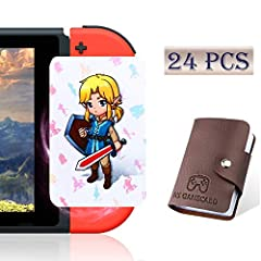 They work like amiiibo. Newest 24 Pcs third party botw tag cards set with newest zelda links awakening. Compatible with Nintendo Switch, Wii U and New 3DS systems. Top quality nfc cards. Made from advanced chip inshide and premium water-proof materia...