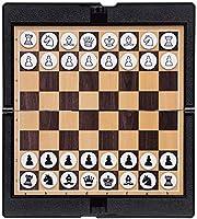 """ボードゲーム子供 大人の子供のためのチェスセットボードゲーム、ポケットチェスセット磁気旅行折りたたみ式ボード大人の子供と十代の若者たちのための知的おもちゃ7""""×7.8""""ポータブルチェス ボードゲーム"""