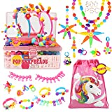 Pop Beads - 600+Pcs Pop Snap Beads Kit for Girls 3, 4, 5, 6, 7 Year Old to Make Hairband, Necklaces, Bracelets, Rings, Earrings, Girls Toys DIY Jewelry Making Kit for Christmas Birthday Gift