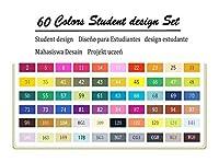 XFHA カラーアートマーカーセットのデュアルスケッチベースのマーカー 必需品を描く (Color : 60 Student Set)