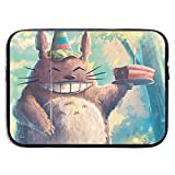 Laptop Sleeve Case Happy Birthday Totoro Notebook Computer Pocket Case for 13-15 Inch MacBook Air,15inch