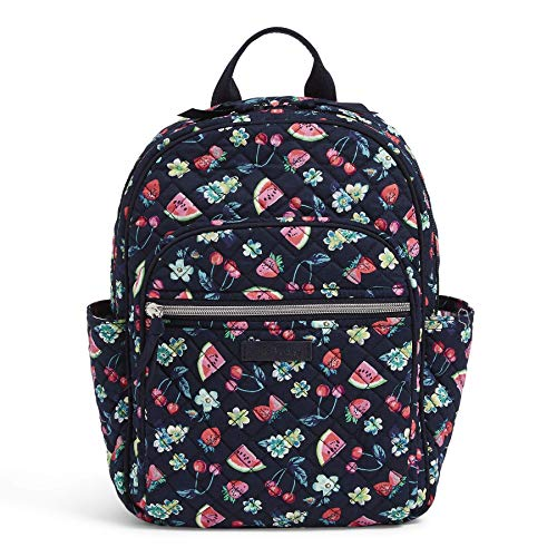 Vera Bradley Women's Iconic Signature Cotton Small Backpack, Fruit Grove, One Size
