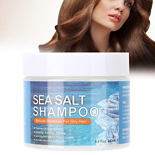 240ml Hair Shampoo, Hair Care Cream Anti-Dandruff Sea Salt Shampoo Oil-Control Shampoo Nourishing Hair Care Sham
