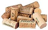 100 Antes de corte, usadas corchos de vino para tablón de diseño, corcho (Botella corcho) Natural de botellas de vino, ya montado corte, ideal para manualidades y decorar (Diseño Un tablón - DIY)