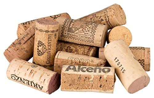 100 vor-geschnittene, gebrauchte Weinkorken zum Pinnwand-Bau | Naturkorken (Flaschenkorken) aus Weinflaschen, bereits fertig geschnitten, ideal zum Basteln und Dekorieren (Bau einer Pinnwand - DIY)