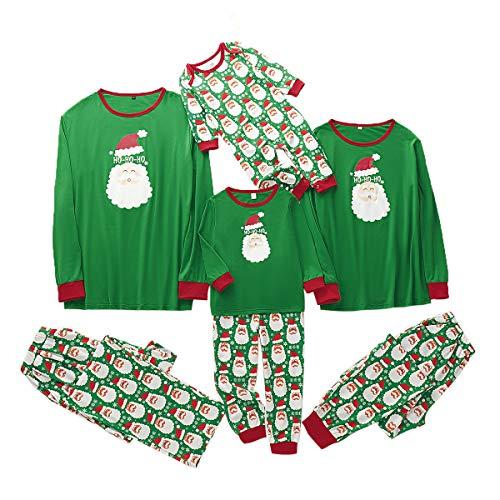 Tianhaik familie bijpassende kerstpyjama set papa moeder kind baby kerstmis nachtkleding nachtkleding Männer: M groen