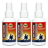 Betadine First Aid Spray 3 Ounce Bottle Povidone Iodine Antiseptic with No-Sting Promise, Pack of 3