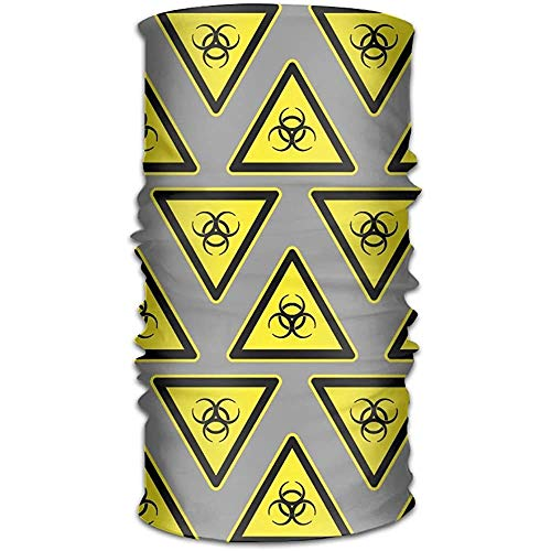 KDU Fashion hoofdband, met biologisch gevaar teken patroon sjaal wrap, polyester Quick Dry sweatband voor wandelen, jacht en fietsen