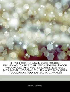 Articles on People from Tunstall, Staffordshire, Including: Clarice Cliff, Hugh Bourne, Enoch Wedgwood, Jabez Vodrey, Martin Paterson, Jack Farrell (F