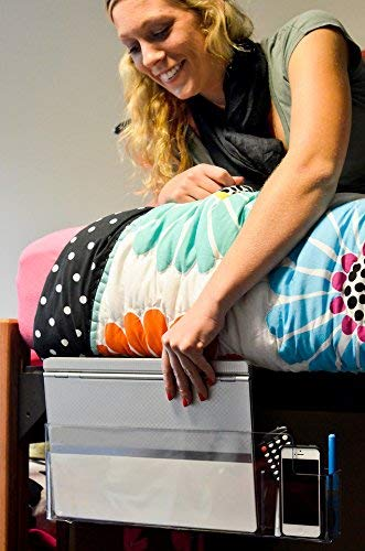 Bed Butler 2.0: Bedside Caddy for Laptops, Remotes & Tablets - All Within Arms Reach