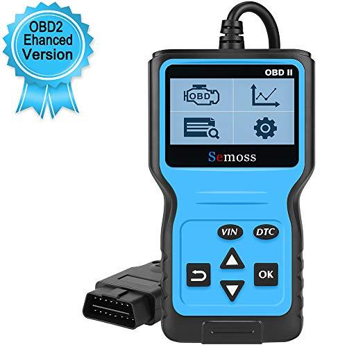 Semoss Profesional OBD2 Diagnósticos Scanner Universal EOBD Can Diagnóstico Escáner Lector Codigos Error del Motor para Vehículos Diesel Essence,Monitor y Alarma de Salud del Auto,Azul