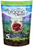 5LB Subtle Earth Organic Decaf - Swiss Water Process Decaf -Medium Dark Roast - Whole Bean Coffee - Low Acidity - Organic Certified by CCOF - 5 Pound (5 lb) Bag