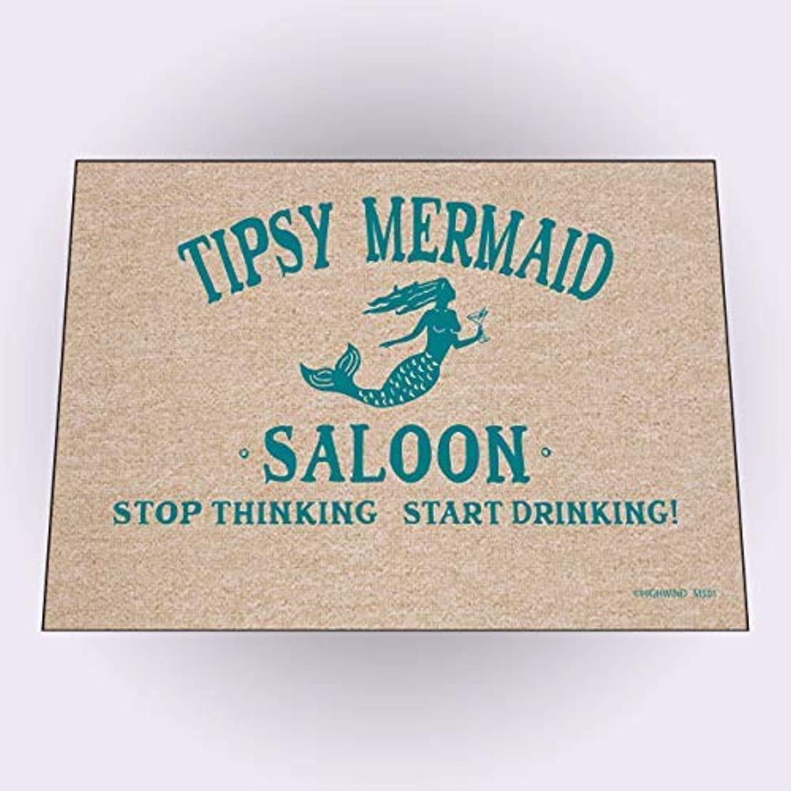 玉初期好みHigh Cotton Welcome Doormats - Tipsy Mermaid Saloon [並行輸入品]