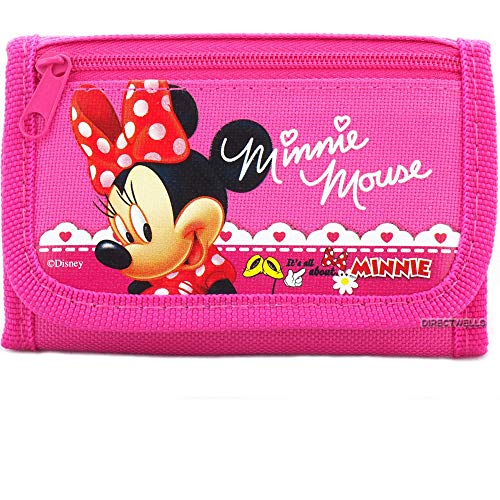 Disney Minnie Mouse Trifold Wallet - 1 WALLET PINK OR HOT PINK RANDOMLY