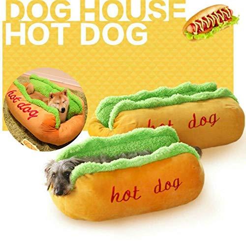 Lorenory hond kat mat grappige Hot hond bed warm huisdier huis creatieve mode bank kussen benodigdheden puppy kat zachte slapende mat gezellige honden nest kennel