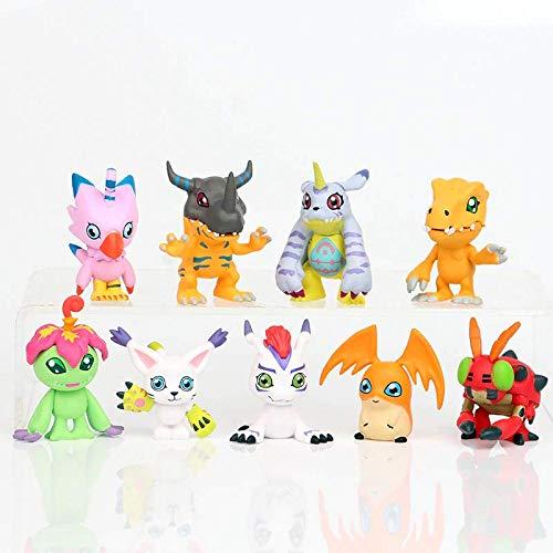 Action Figure Digimon Kit 9 Peças Lindos E Com Fotos Reais