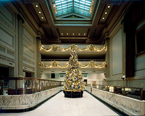 24 x 36 Giclee Print ofChristmas tree in the historic PNC Bank Building formerly Bank of America and Riggs National Bank at the corner 15th Street and Pennsylvania Avenue N.W Washi h64 1993 Highsmith