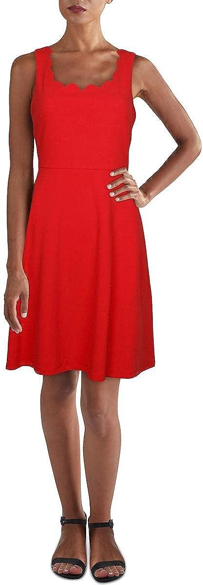 NINE WEST Womens Crepe Knit Midi Dress