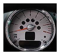 車の装飾ストリップステッカー カーインテリアの変更アクセサリーMINIクーパーR55 R56 R60 R61については、中央制御室内クリスタルデコレーションステッカー (Color : 8)