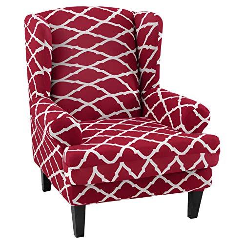 papasgix Ohrensessel Schonbezug, Elastische Sesselbezug Sesselüberwurf Sofaüberwurf Stretch Schutzhülle mit Modern Muster Sessel Husse für Ohrensessel