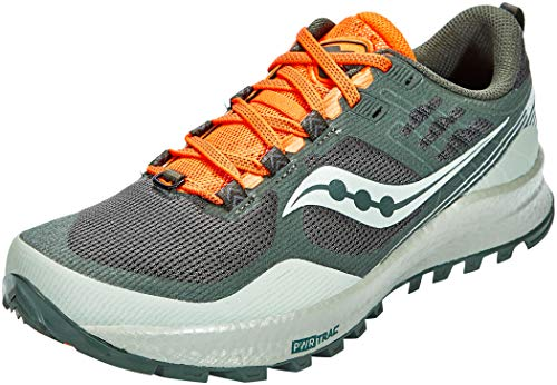 Saucony mens Xodus 10 Trail Running Shoe, Desert/Pine/Orange, 11 US