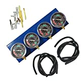 gshhd0 Vuoto Sincronizzare Controllo Moto Accessorio Test Vacuometro Kit Bilanciere Carburatore Sincronizzare per 2, 3 o 4 Cilindro Motori - Come Mostrato