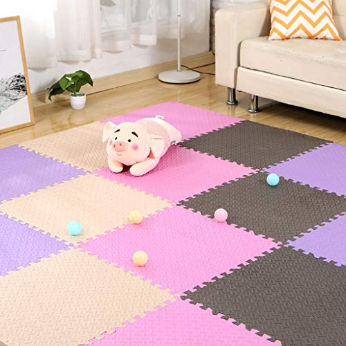 Great Price! Huoo Sponge Crawling Mat Stitching Baby Play Mat for Crawling, Games and Yoga (Color : ...
